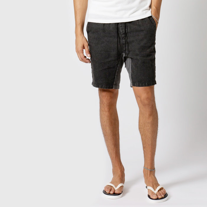 【スーパーSALE ポイント5倍!】wjk 19s linen sporty shorts 5902ln43【 リネン ショーツ スポーティー 】【MENS】