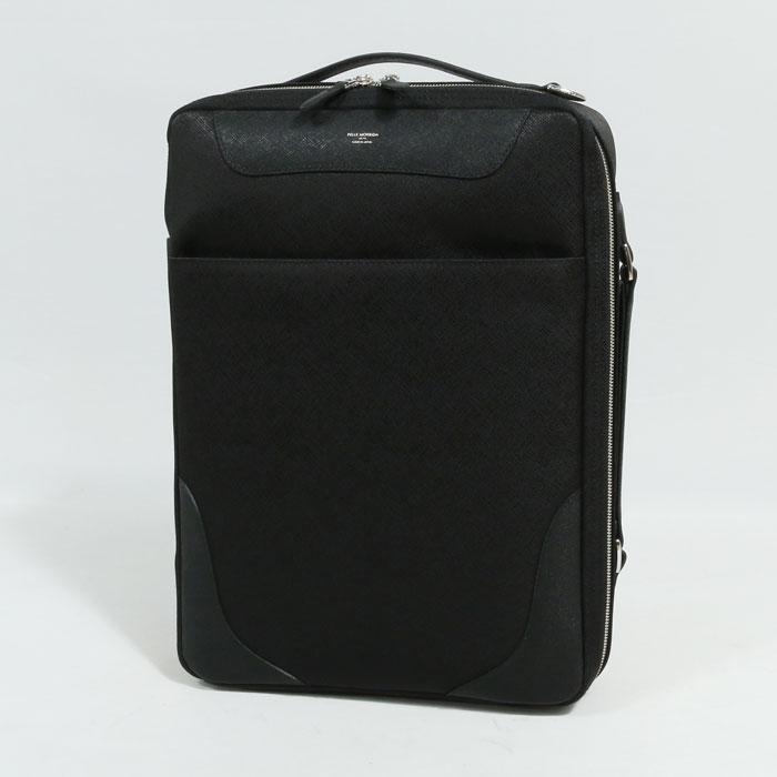 PELLE MORBIDA(ペッレ モルビダ) 3WAY ブリーフケース Brief Bag Capitano BLACK CHARCOALGRAY(CA108)【メンズ】