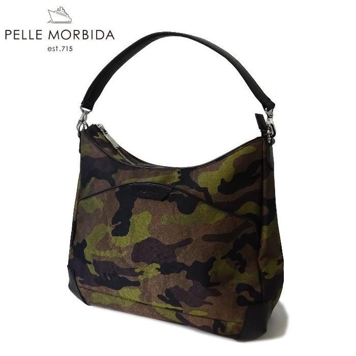PELLE MORBIDA(ペッレ モルビダ)リモンタポリプロピレン×レザー Camouflage EDITOR'S BAG(ON007CAMO)【MADE IN JAPAN】【UNISEX】
