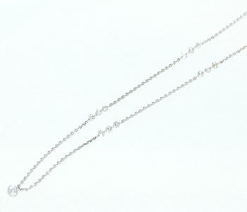 レーザードリルホール ダイヤモンド-0.70ct K18(YG/WG/PG対応可能) ステーションネックレス 【受注発注】