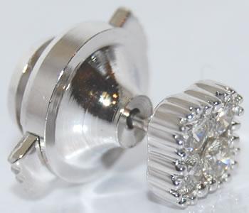 ダイヤモンド-0.25ct シンプルデザイン K18WG ピンバッジ/ラペルピン
