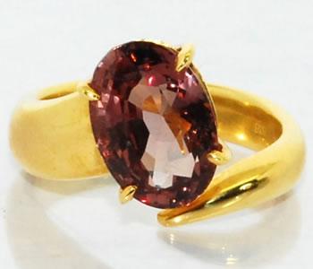 ガーネット-4.3ct 2アーム シンプル オリジナル デザイン オープンリング 指輪 【店頭受取対応商品】
