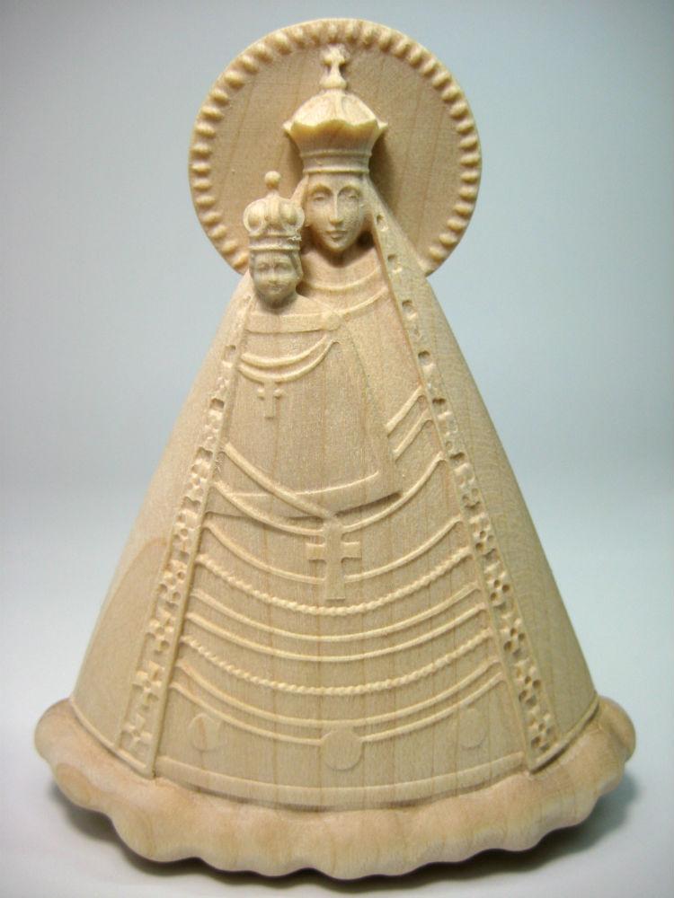 《レーピ》欧州教会使用創業100年木彫りブランド木彫り 聖母マリア像「マグナマーテル・オーストリア」母子像白木仕上げ高さ 35cm 保証書付【イタリア】