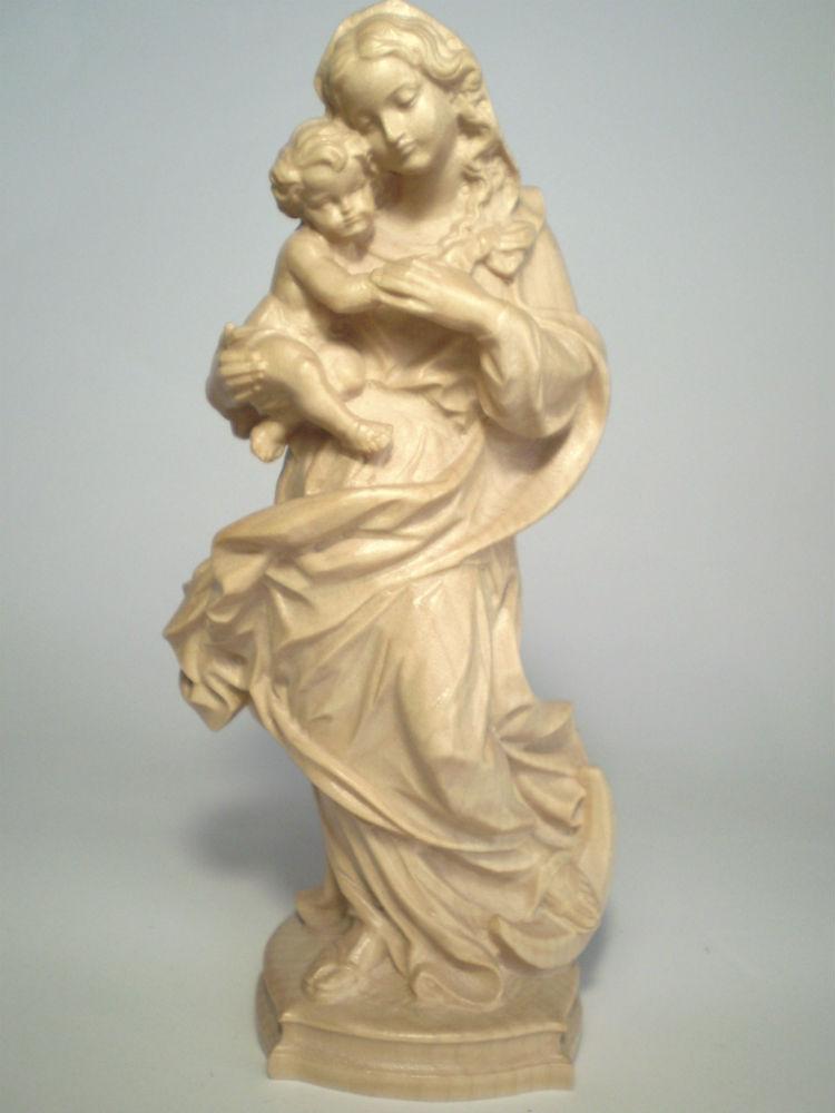 《レーピ》欧州教会使用創業100年 木彫りブランド木彫り 聖母マリア像「レーゲンスブルク」聖母子像 ニス仕上げ 15cm ニス仕上げ 高さ 15cm 高さ 保証書付【イタリア】, 三河わくわくストリート:03b82e65 --- sunward.msk.ru