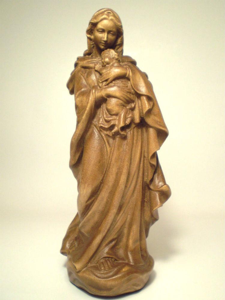 《レーピ》欧州教会使用創業100年木彫りブランド木彫り 聖母マリア像「ルネサンス」聖母子像 高さ15cm ダークブラウン NS 高さ15cm 保証書付【イタリア NS】, ニッコウシ:a7cc45e2 --- sunward.msk.ru