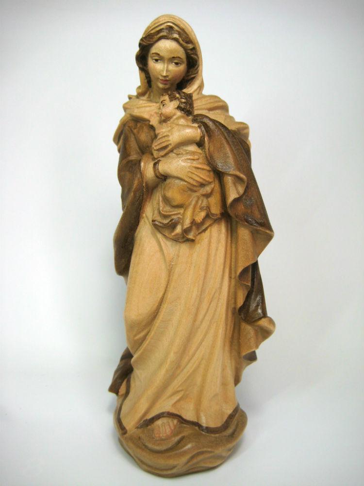 《レーピ》欧州教会使用創業100年木彫りブランド木彫り 聖母マリア像「ルネサンス」聖母子像ブラウン・濃淡2色(手彩色)高さ 20cm 保証書付【イタリア】, セレクトショップ コーブライミー:b9d4568d --- sunward.msk.ru