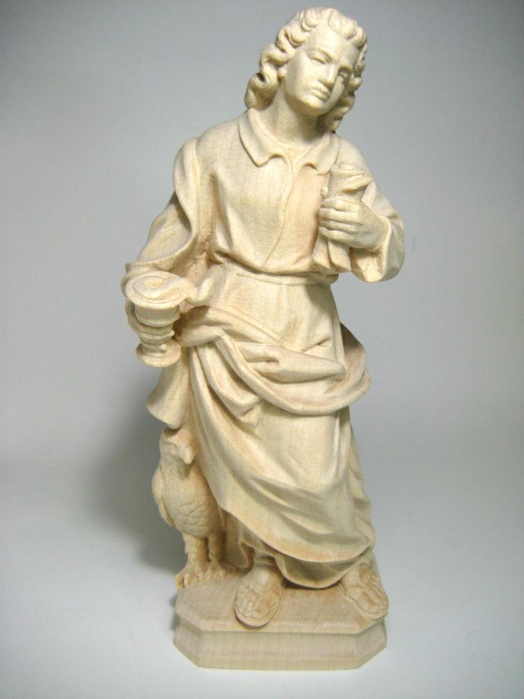 《レーピ》欧州教会使用創業100年 木彫りブランド木彫り 諸聖人像 「セント・ジョン・エヴァンジェリスト」白木仕上げ高さ 20cm 保証書付【イタリア】