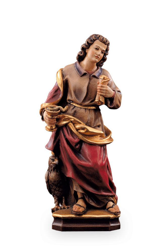 《レーピ》欧州教会使用創業100年 木彫りブランド木彫り 諸聖人像 「セント・ジョン・エヴァンジェリスト」カラー(手彩色)アンティーク仕上げ高さ 60cm 保証書付【イタリア】