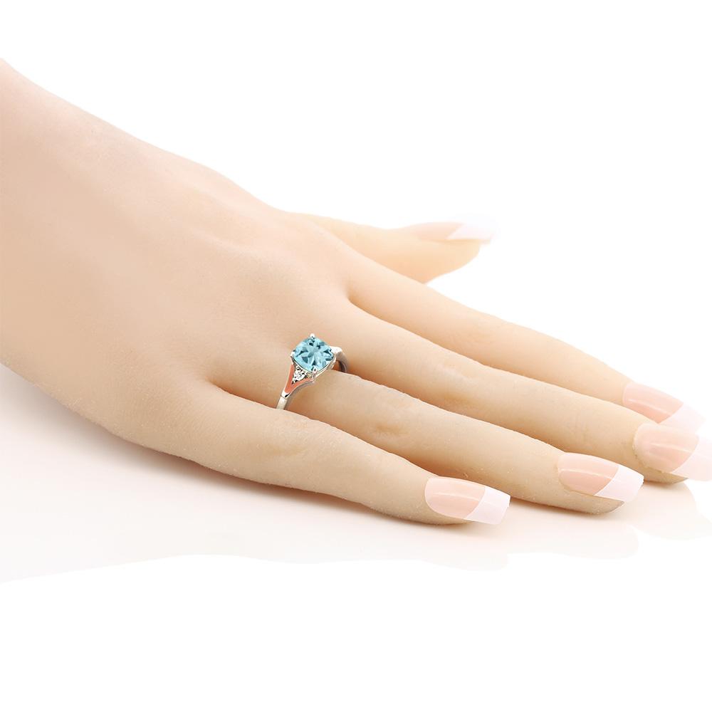 1 85カラット 天然 スカイブルートパーズ 指輪 レディース リング ダイヤモンド 10金 Two Toneゴールド K10NOnX0wPk8