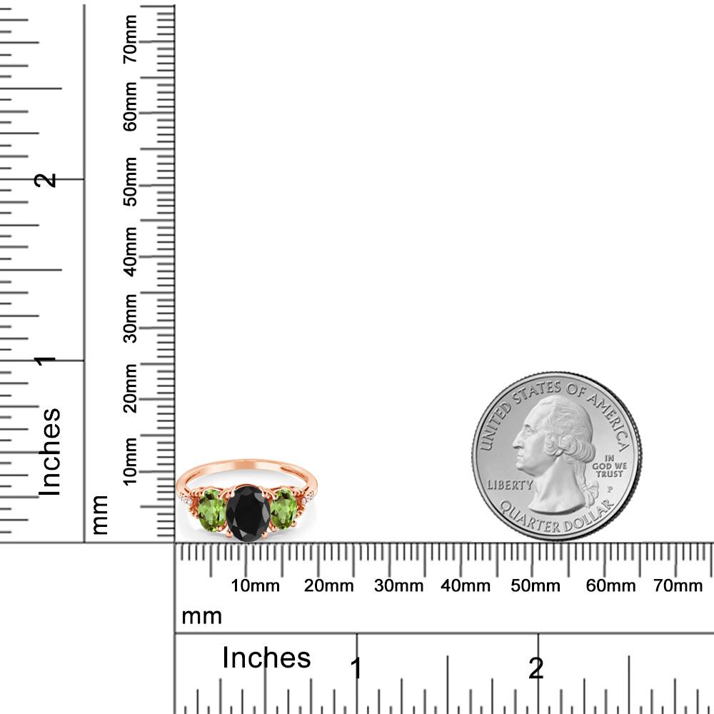 2 7カラット 天然 ブラックサファイア 天然石 ペリドット 天然 ダイヤモンド 10金 ピンクゴールド K10指輪 レディース リング 大粒 スリーストーン 天然石 9月 誕生石 金属アレルギー対応 誕生日プレゼントZPOiuTkX