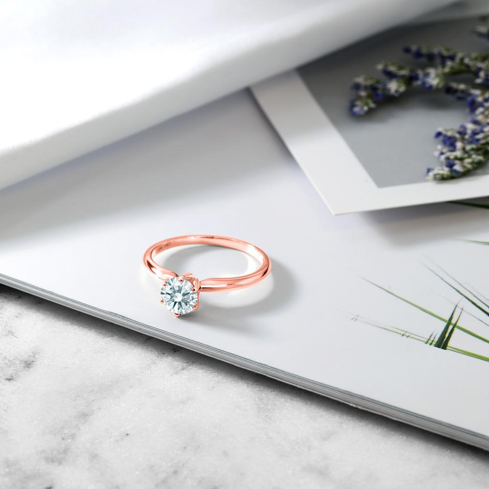 スワロフスキージルコニア指輪 レディース リング 14金 ピンクゴールド K14 ブランド おしゃれ 一粒 CZ 白 シンプル 細身 ソリティア プレゼント 女性 彼女 妻 誕生日0wkXnOPN8