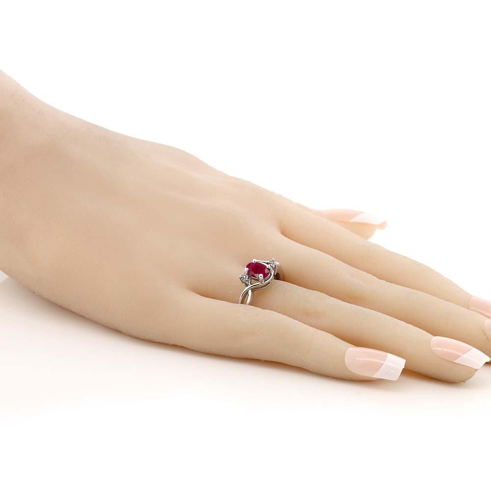 1 09カラット 天然 ルビー 指輪 レディース リング ダイヤモンド シルバー925 ブランド おしゃれ ツイスト ねじれ 赤 大粒 シンプル ソリティア 天然石 7月 誕生石 プレゼント 女性 彼女 妻 誕生日WYIE9H2D