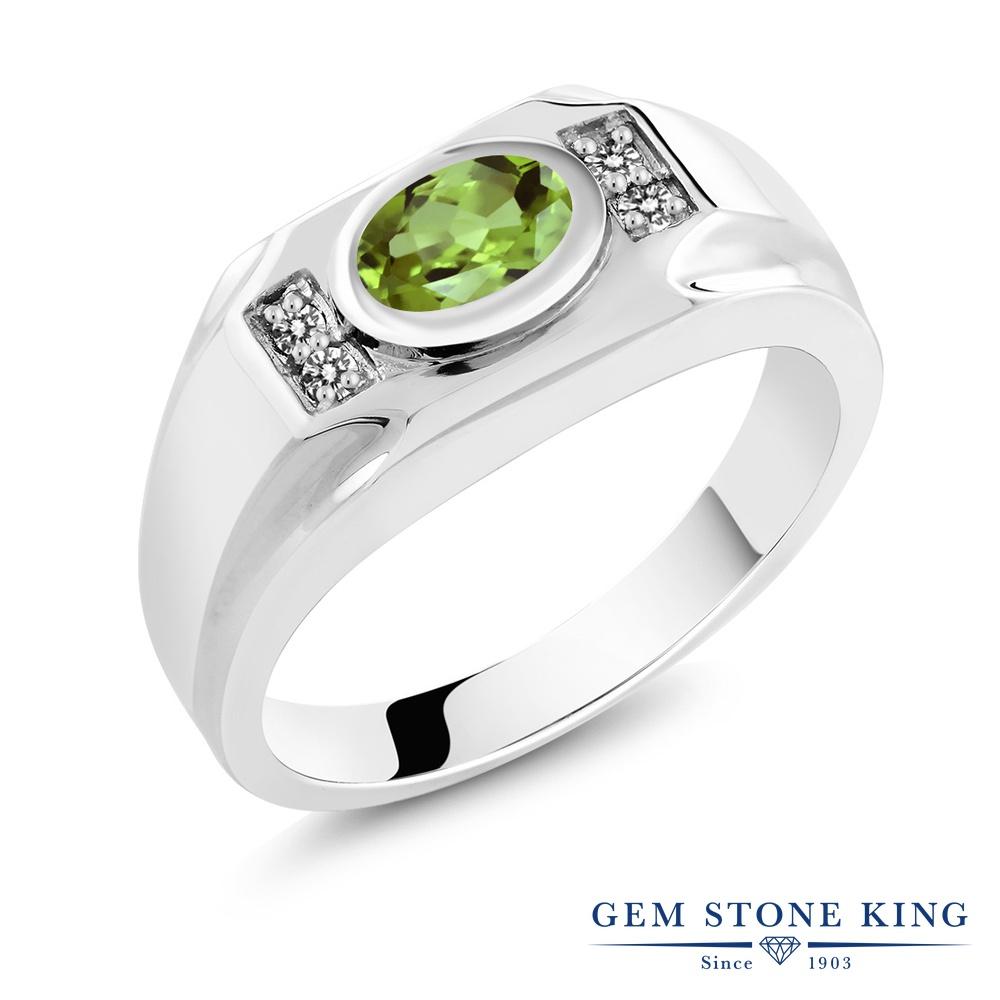 1.46カラット 天然石 ペリドット 指輪 レディース リング 天然 ダイヤモンド シルバー925 ブランド おしゃれ 緑 大粒 マルチストーン 8月 誕生石 プレゼント 女性 彼女 妻 誕生日