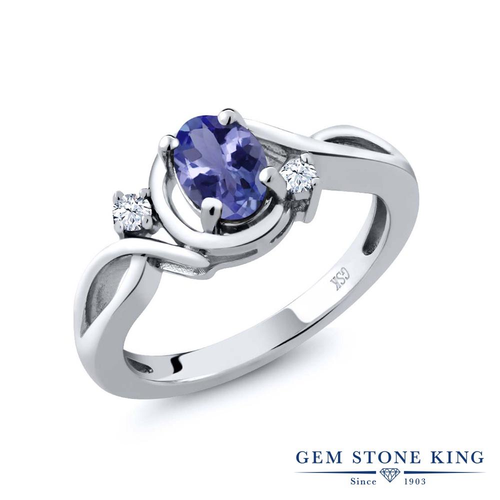 【10%OFF】 Gem Stone King 0.83カラット 天然 トパーズ 指輪 リング レディース シルバー925 シンプル ソリティア 天然石 クリスマスプレゼント 女性 彼女 妻 誕生日