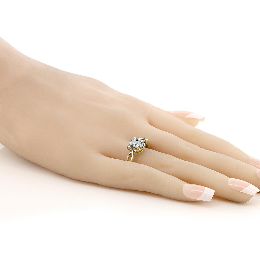0 79カラット 天然 アクアマリン 指輪 レディース リング ダイヤモンド イエローゴールド 加工 シルバー925 ブランド おしゃれ ツイスト ねじれ 水色 シンプル ソリティア 天然石 3月 誕生石 プレゼント 女性 彼女 妻 誕生日WHIYE9D2