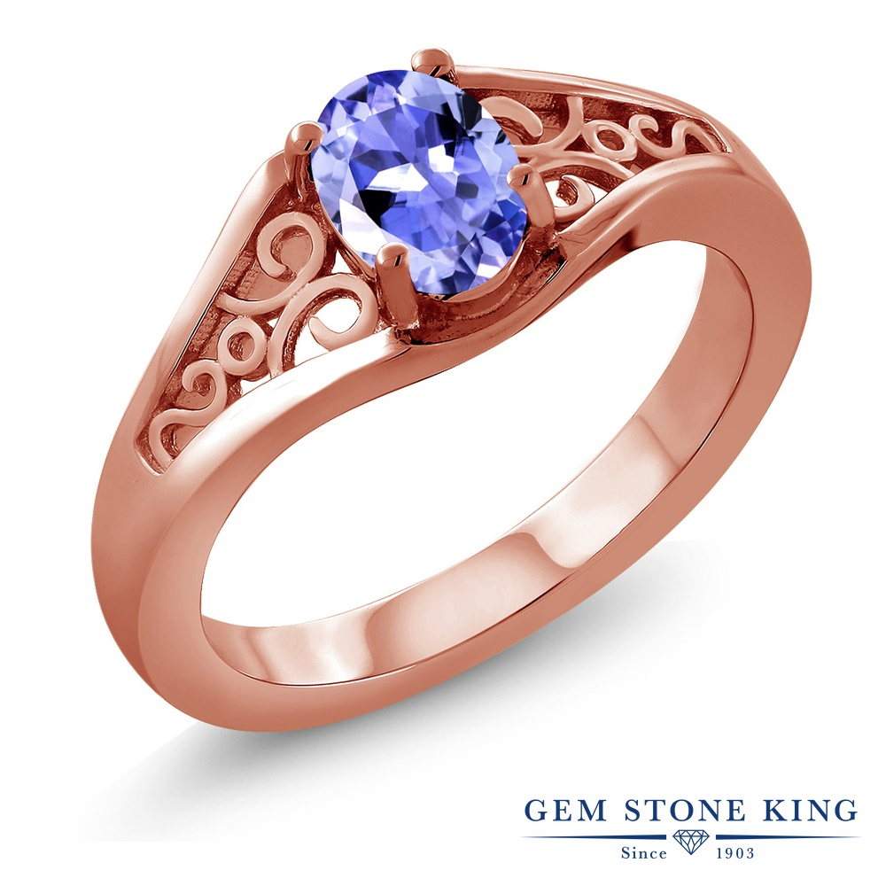 【10%OFF】 Gem Stone King 0.75カラット 指輪 リング レディース シルバー925 ピンクゴールド 加工 一粒 シンプル ソリティア 天然石 クリスマスプレゼント 女性 彼女 妻 誕生日