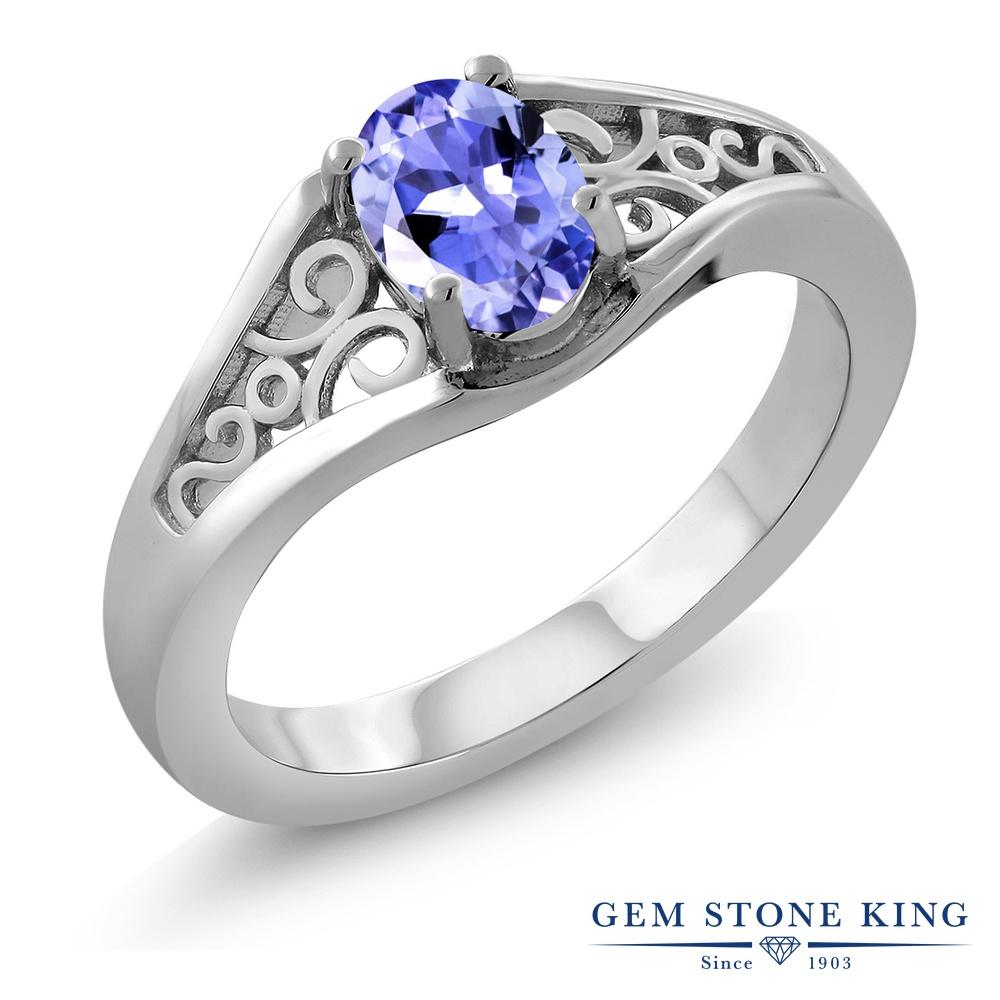 0.75カラット 指輪 レディース リング シルバー925 ブランド おしゃれ 一粒 青 シンプル ソリティア 天然石 プレゼント 女性 彼女 妻 誕生日