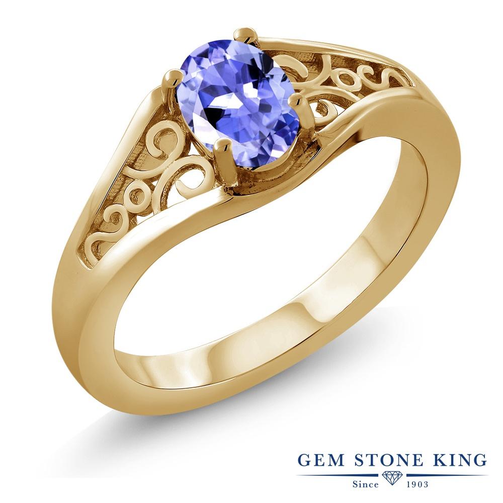 【10%OFF】 Gem Stone King 0.75カラット 指輪 リング レディース シルバー925 イエローゴールド 加工 一粒 シンプル ソリティア 天然石 クリスマスプレゼント 女性 彼女 妻 誕生日