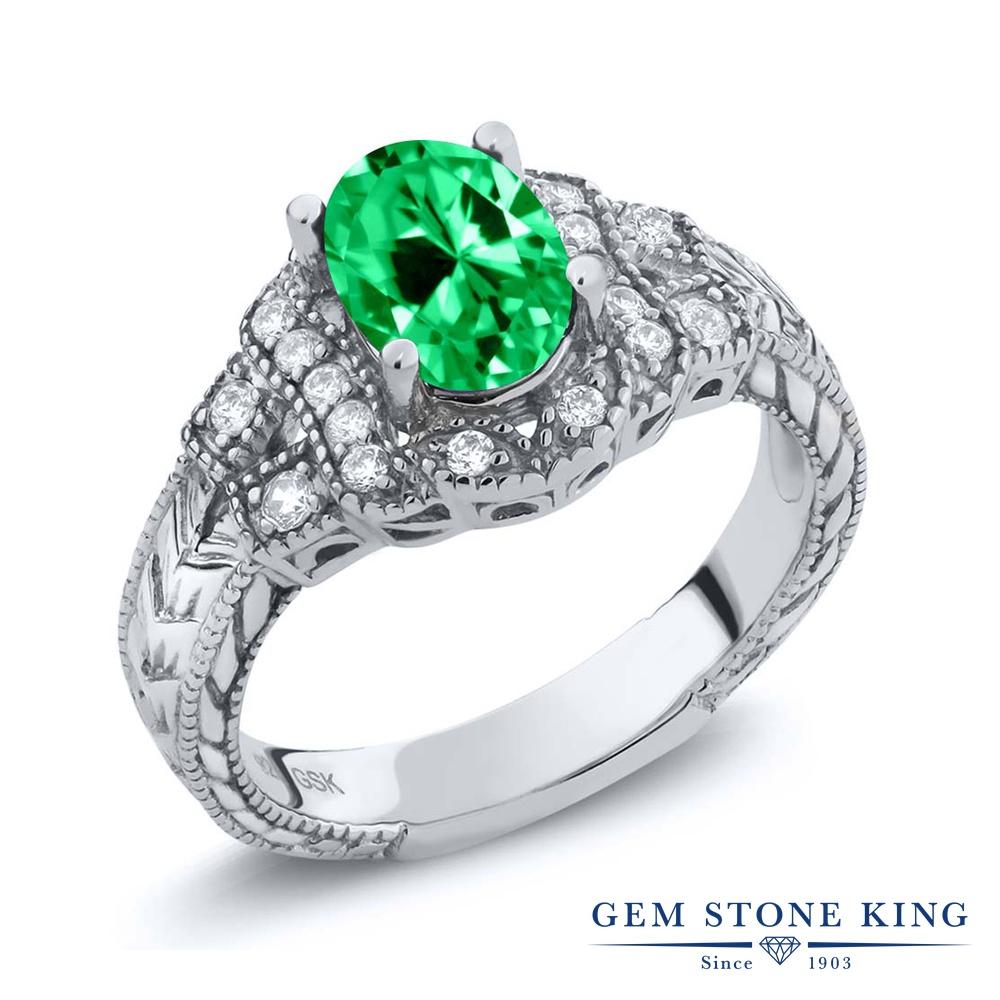 1 44カラット ジルコニアグリーン指輪 レディース リング シルバー925 ブランド おしゃれ 細工 CZ 緑 大粒 金属アレルギー対応yIb76vfgmY
