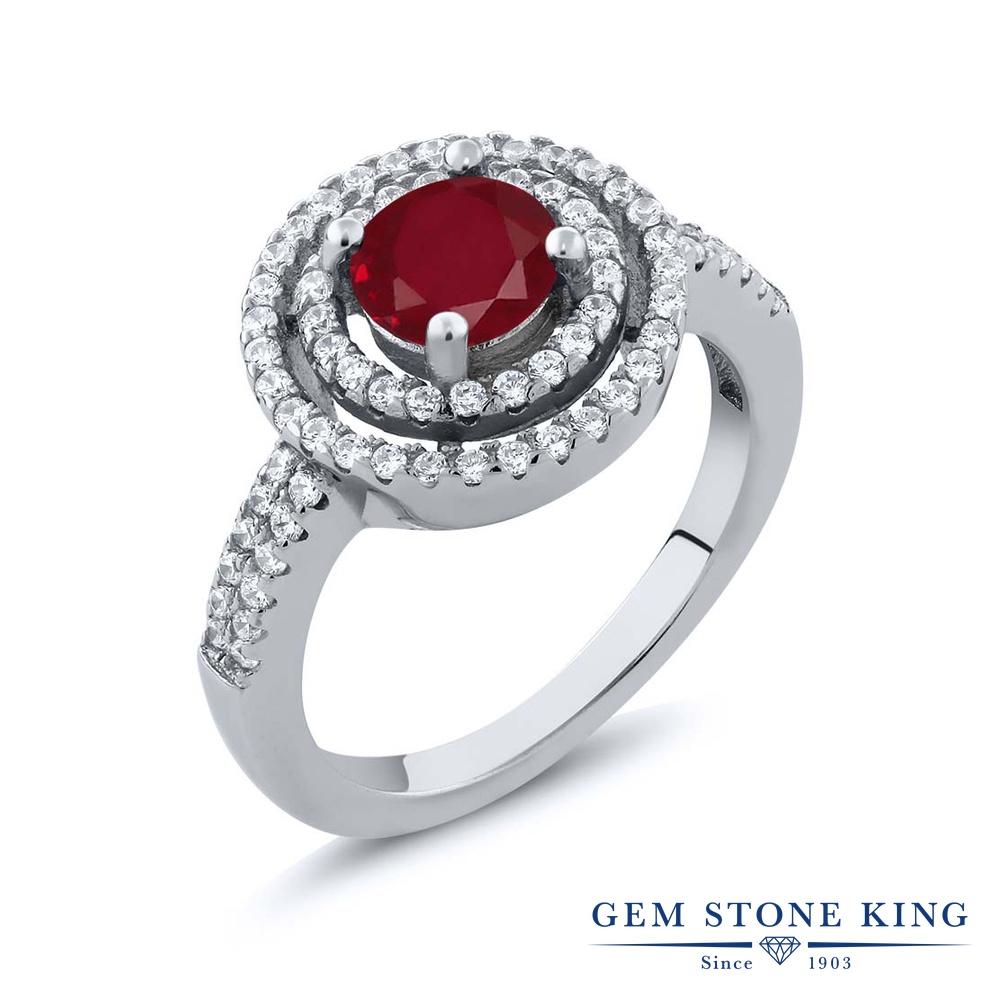 Gem Stone King 2.01カラット 天然ルビー シルバー925 指輪 リング レディース 大粒 天然石 誕生石 誕生日プレゼント