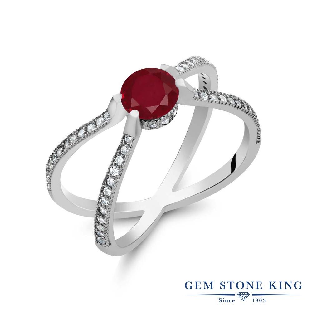 Gem Stone King 1.58カラット 天然 ルビー シルバー925 指輪 リング レディース 大粒 天然石 7月 誕生石 金属アレルギー対応 誕生日プレゼント