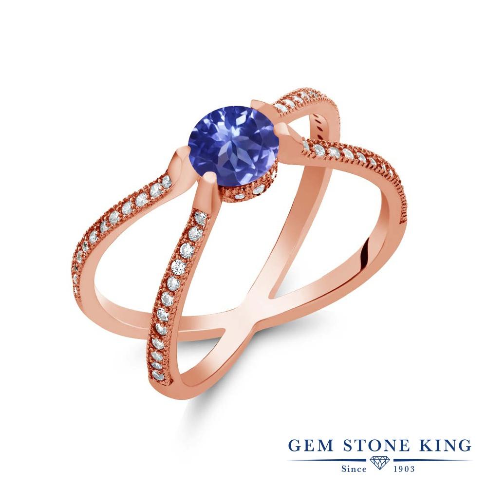 Gem Stone King 1.48カラット シルバー925 ピンクゴールドコーティング 指輪 リング レディース 天然石 金属アレルギー対応 誕生日プレゼント