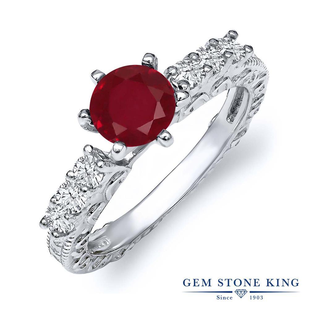 1.35カラット 天然 ルビー 指輪 レディース リング シルバー925 ブランド おしゃれ アラベスク 細工 赤 大粒 天然石 7月 誕生石 プレゼント 女性 彼女 妻 誕生日