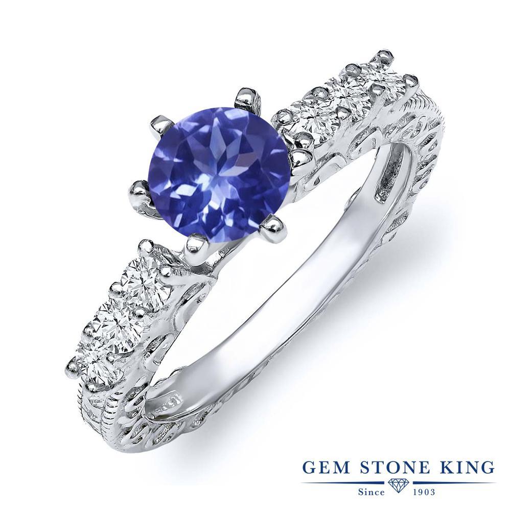 Gem Stone King 1.12カラット シルバー925 指輪 リング レディース 天然石 金属アレルギー対応 誕生日プレゼント