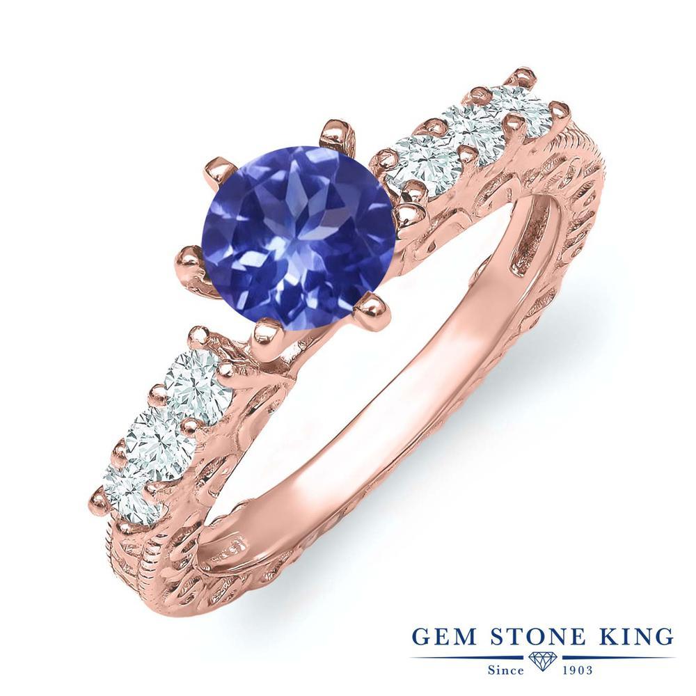 【10%OFF】 Gem Stone King 1.2カラット 指輪 リング レディース シルバー925 ピンクゴールド 加工 天然石 クリスマスプレゼント 女性 彼女 妻 誕生日