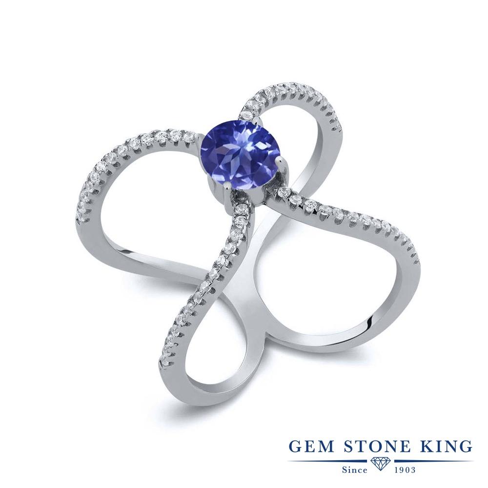 Gem Stone King 1.48カラット シルバー925 指輪 リング レディース 天然石 金属アレルギー対応 誕生日プレゼント