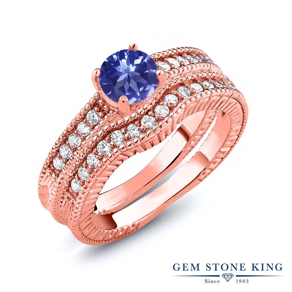Gem Stone King 1.25カラット シルバー925 ピンクゴールドコーティング 指輪 リング レディース エンハンサー 天然石 金属アレルギー対応 誕生日プレゼント