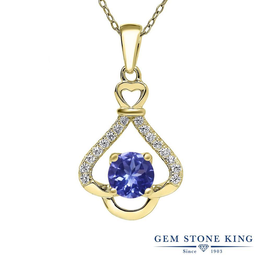 【クーポンで7%OFF】 Gem Stone King 0.98カラット シルバー925 イエローゴールドコーティング ネックレス ペンダント レディース 天然石 プレゼント 女性 彼女 誕生日 クリスマス
