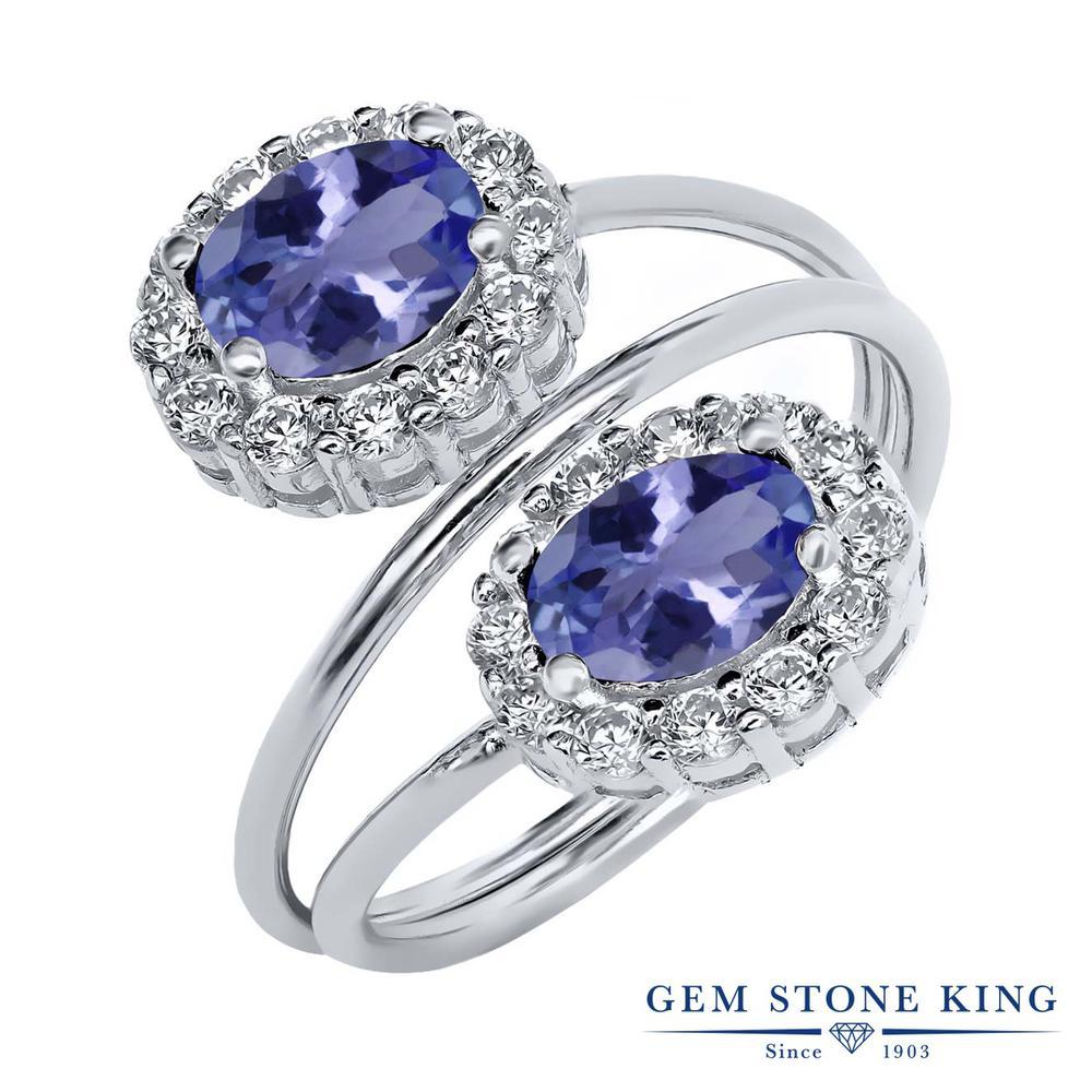 Gem Stone King 2.28カラット シルバー925 指輪 リング レディース 天然石 金属アレルギー対応 誕生日プレゼント