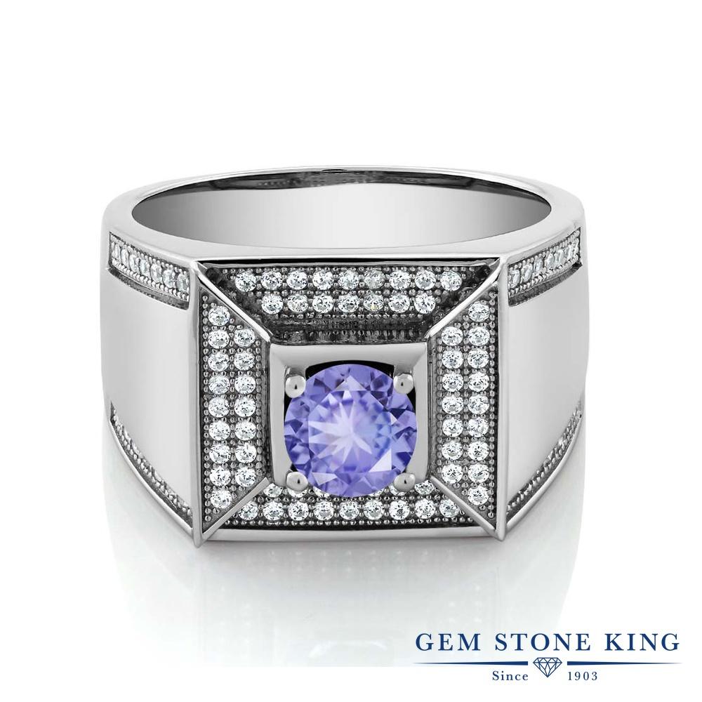 Gem Stone King 1.9カラット シルバー925 指輪 リング レディース カレッジリング 天然石 金属アレルギー対応 誕生日プレゼント