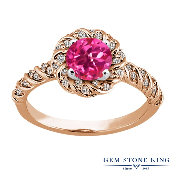 【10%OFF】 Gem Stone King 1.98カラット 天然 ミスティックトパーズ (ピンク) 指輪 リング レディース シルバー925 ピンクゴールド 加工 大粒 天然石 クリスマスプレゼント 女性 彼女 妻 誕生日