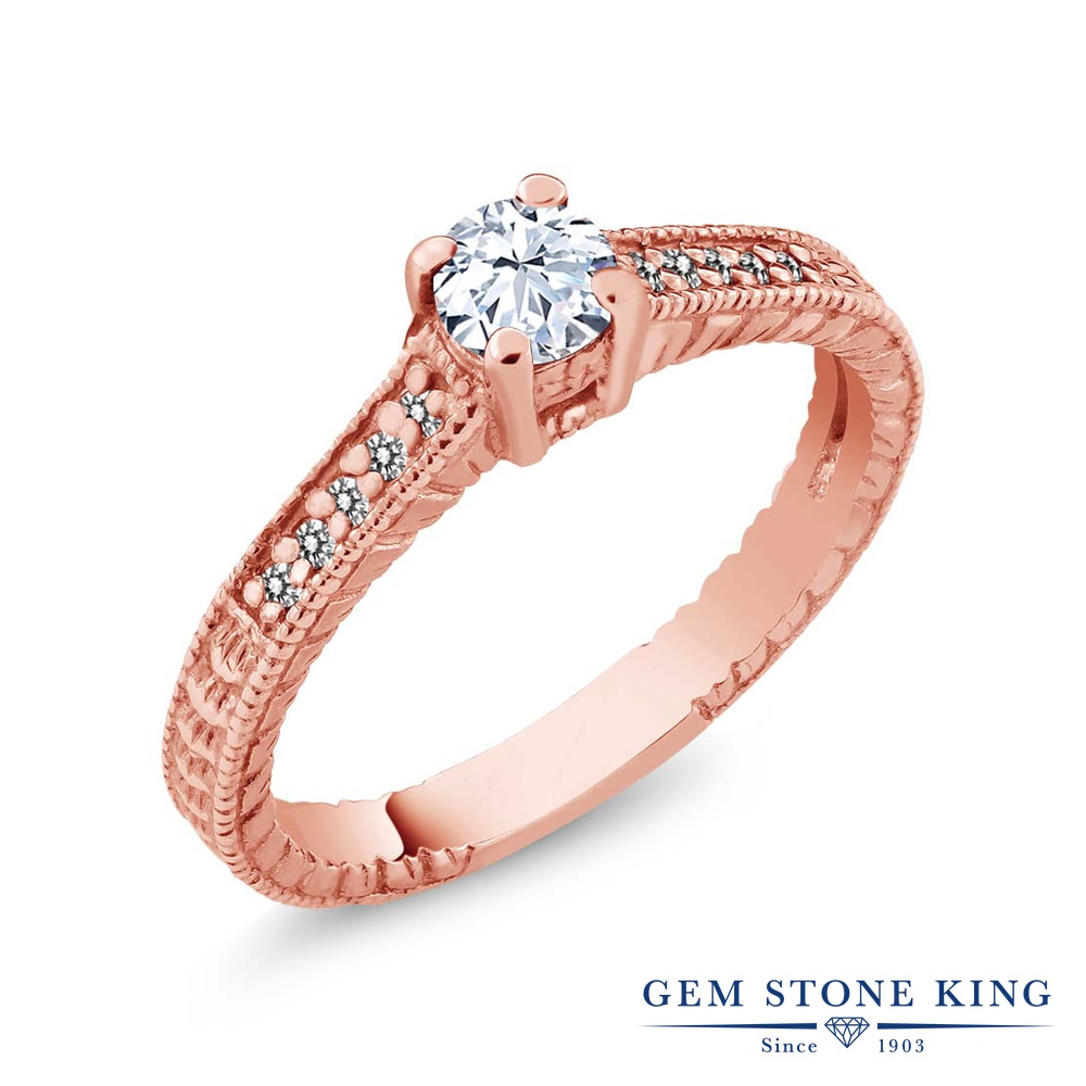 0.45カラット 天然 トパーズ 指輪 レディース リング ダイヤモンド ピンクゴールド 加工 シルバー925 ブランド おしゃれ 細工 白 小粒 マルチストーン 華奢 細身 天然石 11月 誕生石 婚約指輪 エンゲージリング