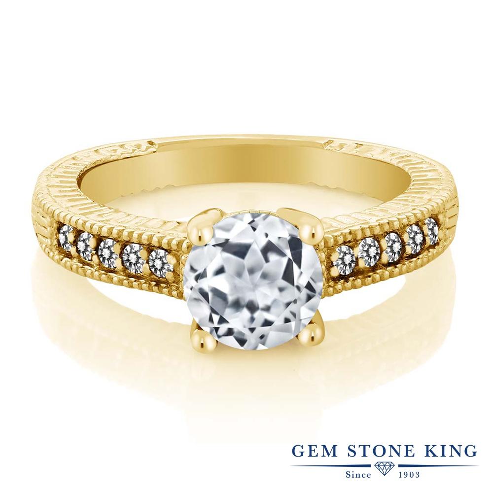1.77カラット 天然 トパーズ 指輪 レディース リング ダイヤモンド イエローゴールド 加工 シルバー925 ブランド おしゃれ 細工 白 大粒 マルチストーン 天然石 11月 誕生石 婚約指輪 エンゲージリング