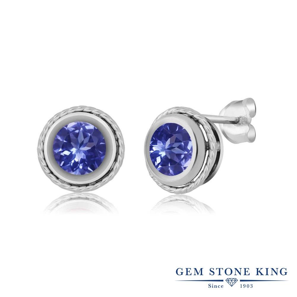 Gem Stone King 1.6カラット シルバー925 ピアス レディース シンプル スタッド 天然石 金属アレルギー対応 誕生日プレゼント