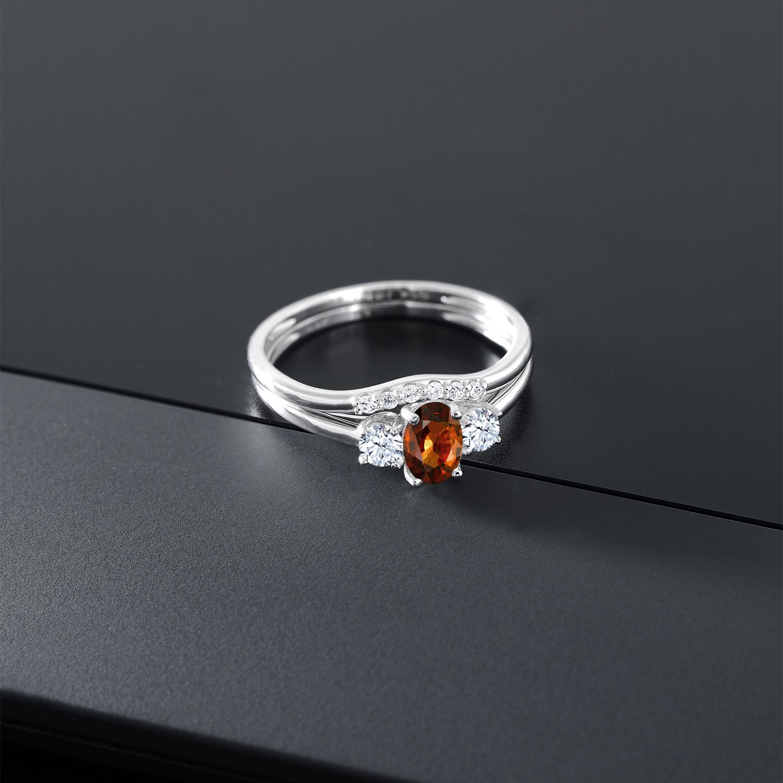 1 04カラット 天然石 ジルコン ブラウン合成ホワイトサファイア ダイヤのような無色透明合成ダイヤモンド 10金 ホワイトゴールド K10指輪srhCtdQ