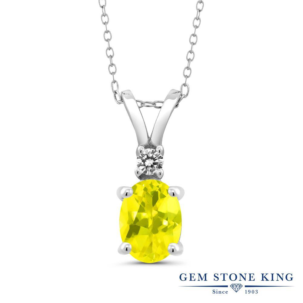 ネックレス レディース 人気 2020 ブランド 女性 セール品 プレゼント 1.63カラット 天然石 ミスティックトパーズ イエロー 天然 大粒 お返し おしゃれ ダイヤモンド ペンダント 金属アレルギー対応 シンプル シルバー925 ホワイトデー