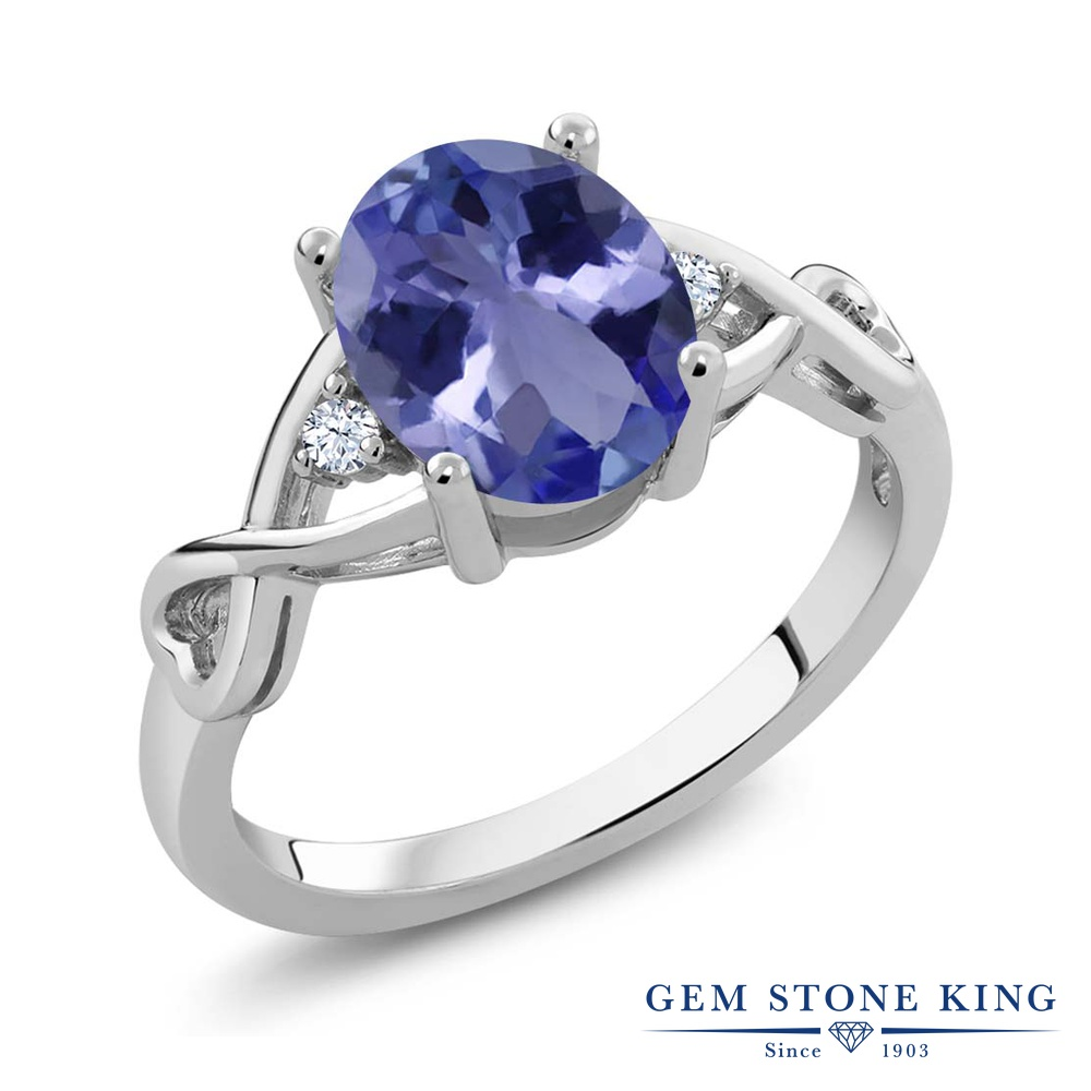 【クーポンで10%OFF】 Gem Stone King 1.79カラット シルバー925 指輪 リング レディース 大粒 シンプル ソリティア 天然石 金属アレルギー対応 誕生日プレゼント