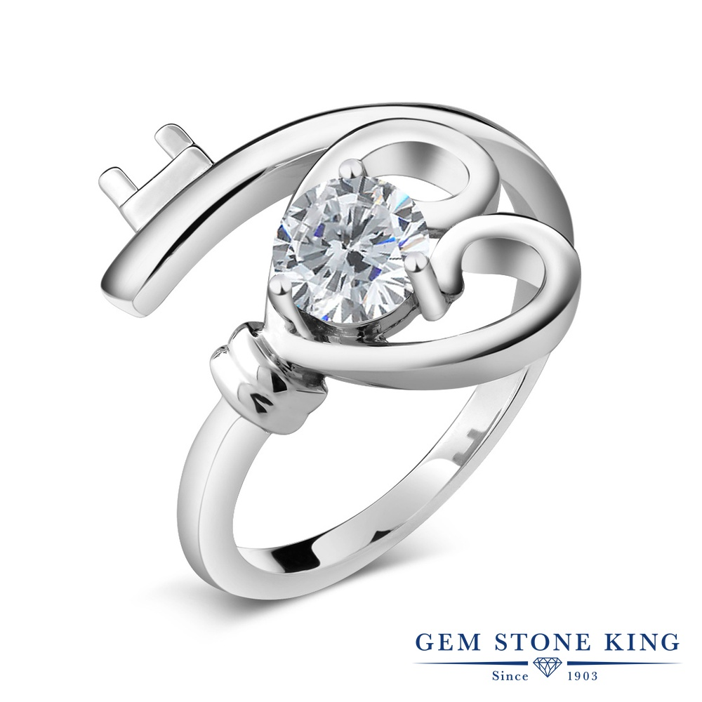 Gem Stone King 0.5カラット 天然 ダイヤモンド シルバー925 指輪 リング レディース ダイヤ 小粒 一粒 シンプル ソリティア 天然石 4月 誕生石 金属アレルギー対応 誕生日プレゼント