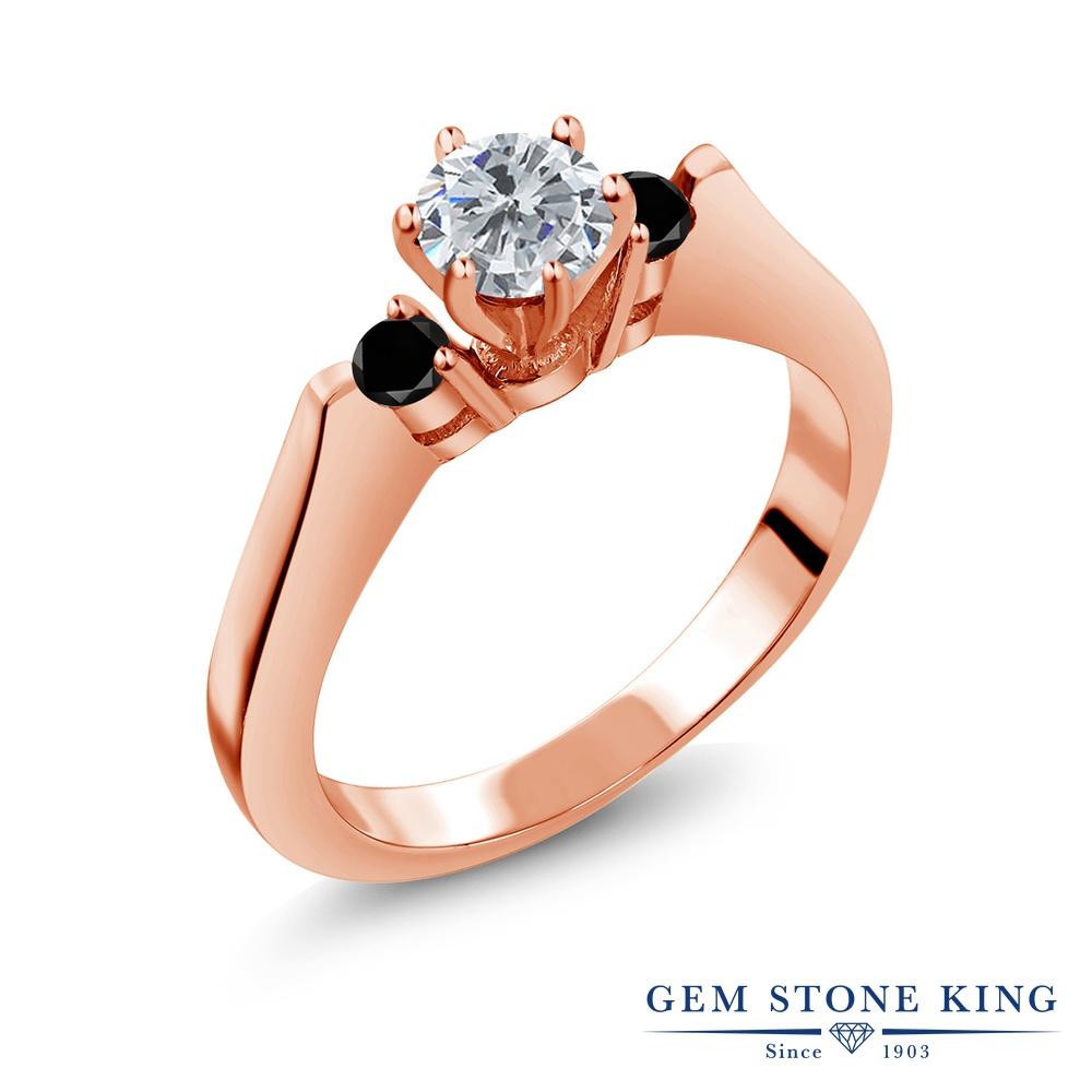 0.63カラット 天然 ダイヤモンド 指輪 レディース リング ピンクゴールド 加工 シルバー925 ブランド おしゃれ スリーストーン ダイヤ 小粒 シンプル 天然石 4月 誕生石 プレゼント 女性 彼女 妻 誕生日