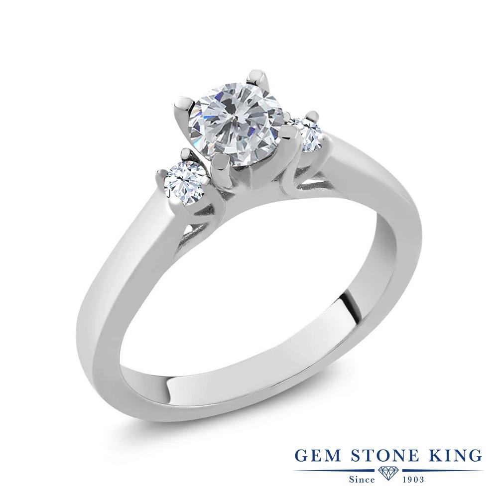 0.66カラット 天然 ダイヤモンド 指輪 レディース リング トパーズ シルバー925 ブランド おしゃれ スリーストーン ダイヤ 小粒 シンプル 天然石 4月 誕生石 プレゼント 女性 彼女 妻 誕生日