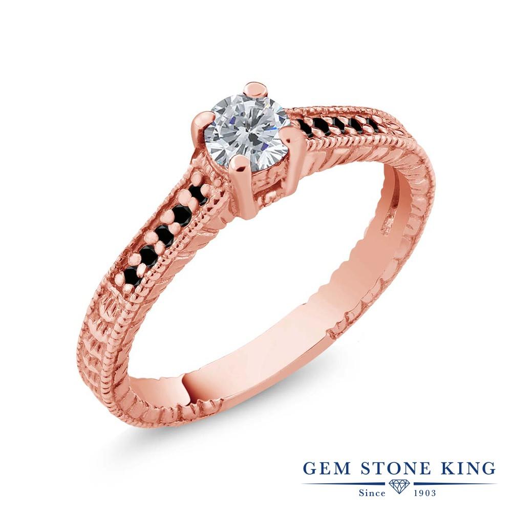 0.32カラット 天然 ダイヤモンド 指輪 レディース リング ピンクゴールド 加工 シルバー925 ブランド おしゃれ 細工 ダイヤ 小粒 マルチストーン 華奢 細身 天然石 4月 誕生石 婚約指輪 エンゲージリング