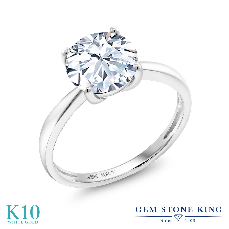 ジルコニア 指輪 リング レディース 10金 ホワイトゴールド K10 CZ 大粒 一粒 シンプル ソリティア プレゼント 女性 彼女 妻 誕生日