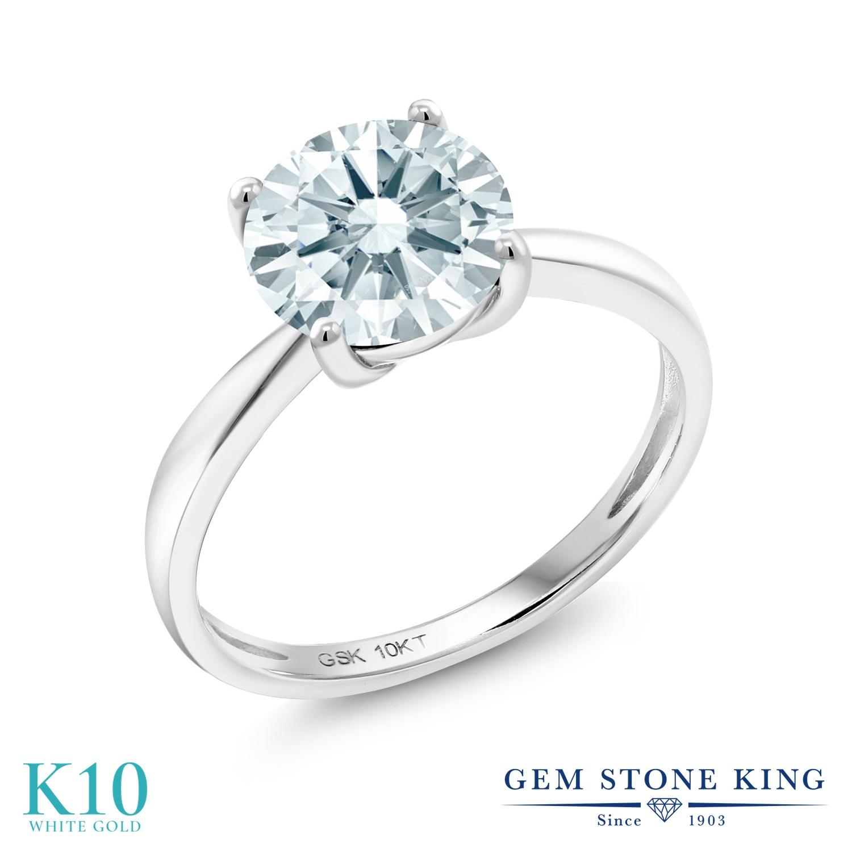 スワロフスキージルコニア 指輪 リング レディース 10金 ホワイトゴールド K10 CZ 大粒 一粒 シンプル ソリティア プレゼント 女性 彼女 妻 誕生日