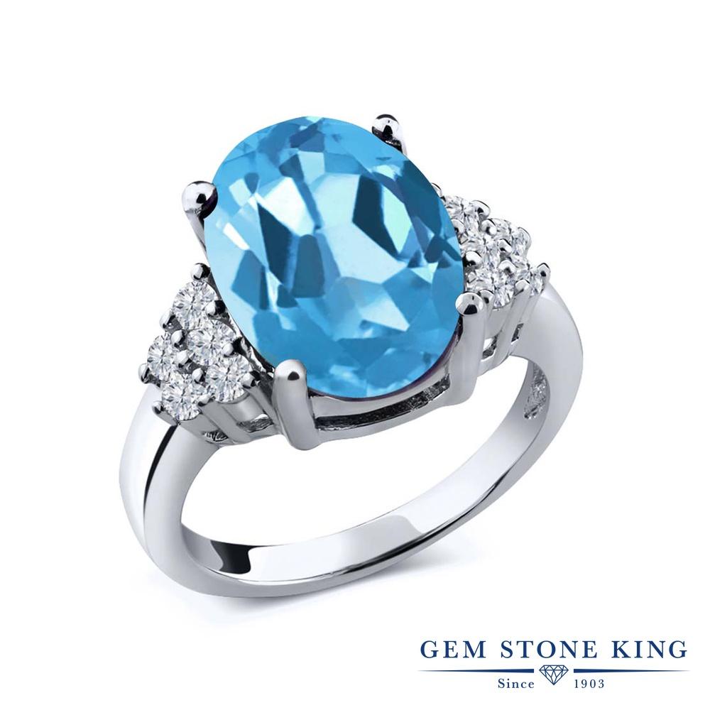 リング レディース 人気 祝日 ブランド 女性 プレゼント 5.33カラット 天然 スイスブルートパーズ 指輪 ダイヤモンド シルバー925 彼女 大粒 半額 誕生日 おしゃれ ホワイトデー 誕生石 お返し 11月 妻 マルチストーン 天然石