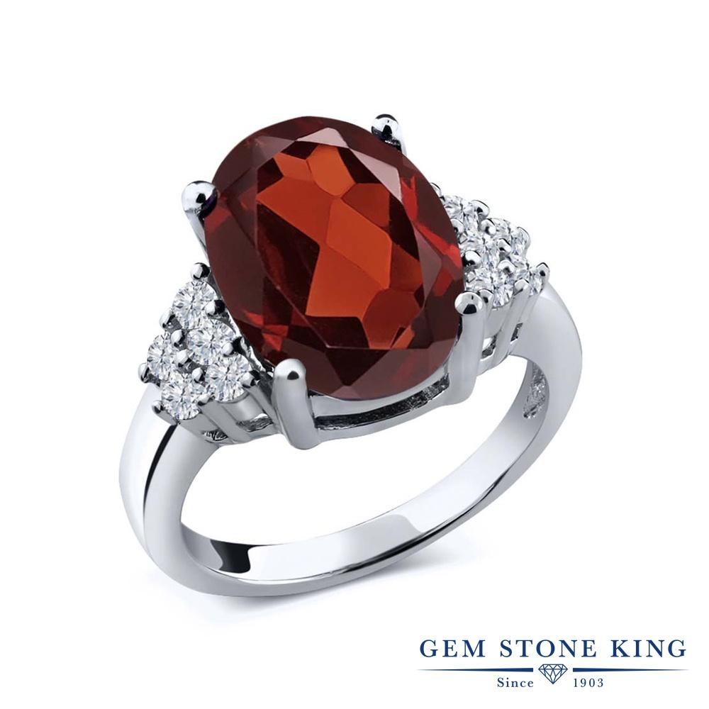 3.83カラット 天然 ガーネット 指輪 レディース リング ダイヤモンド シルバー925 ブランド おしゃれ 赤 大粒 マルチストーン 天然石 1月 誕生石 プレゼント 女性 彼女 妻 誕生日