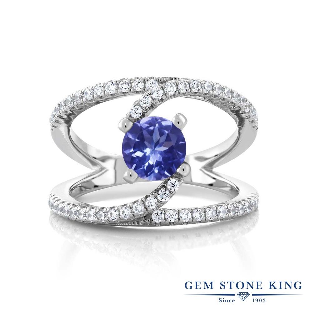 1.38カラット 指輪 レディース リング シルバー925 ブランド おしゃれ 青 カクテル 天然石 プレゼント 女性 彼女 妻 誕生日